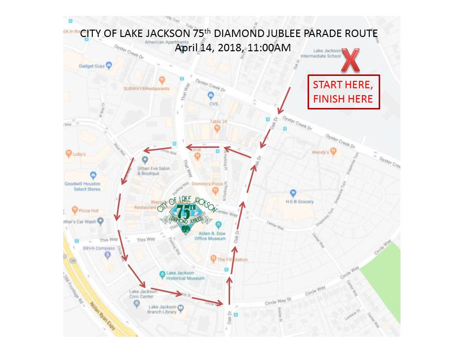 75th DIAMOND JUBILEE Parade Route